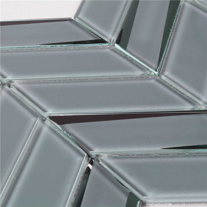 Heng Xing Wholesale blue iridescent glass tile factory price for hotel