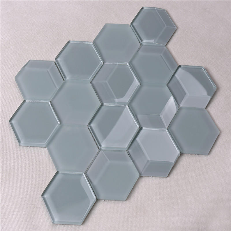Heng Xing square glass mosaic tile sheets sale for kitchen