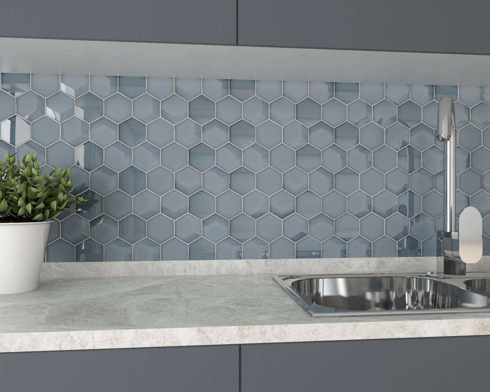 glass metal tile simple for kitchen Heng Xing