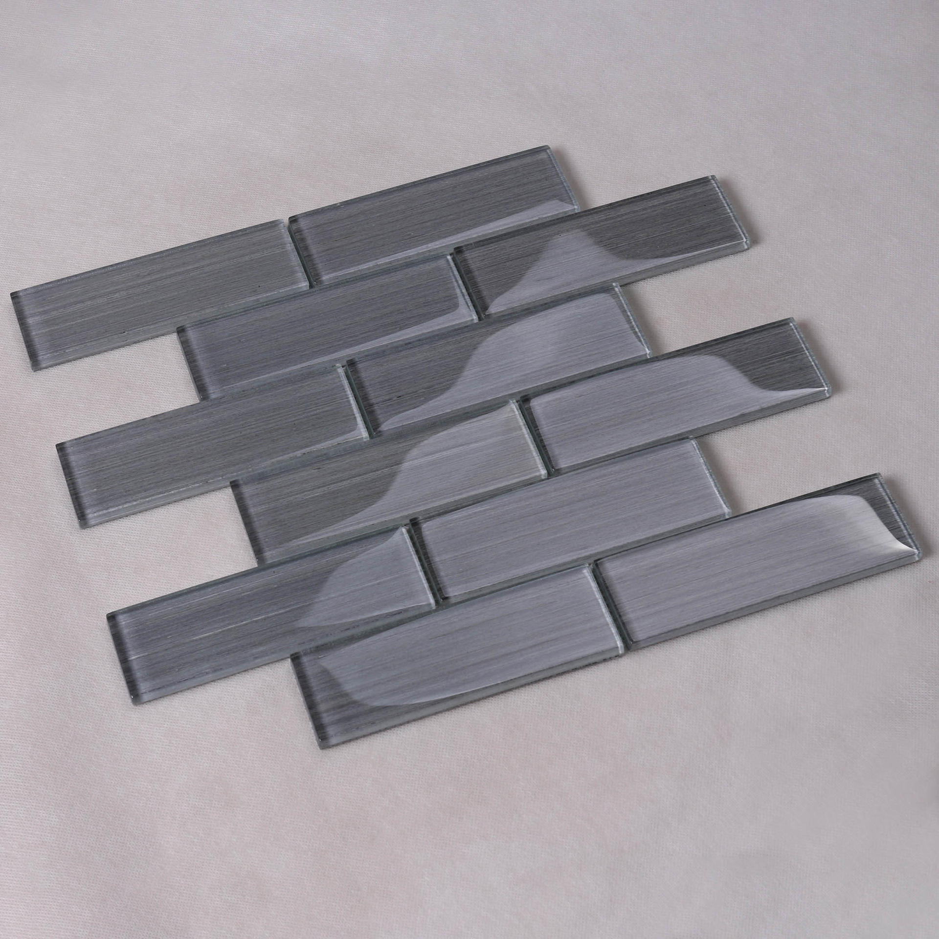 Heng Xing electroplated teal glass tile factory for hotel