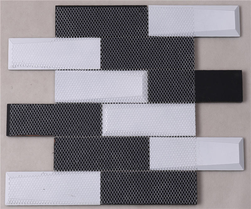 glass mosaic tile engraved for living room Heng Xing