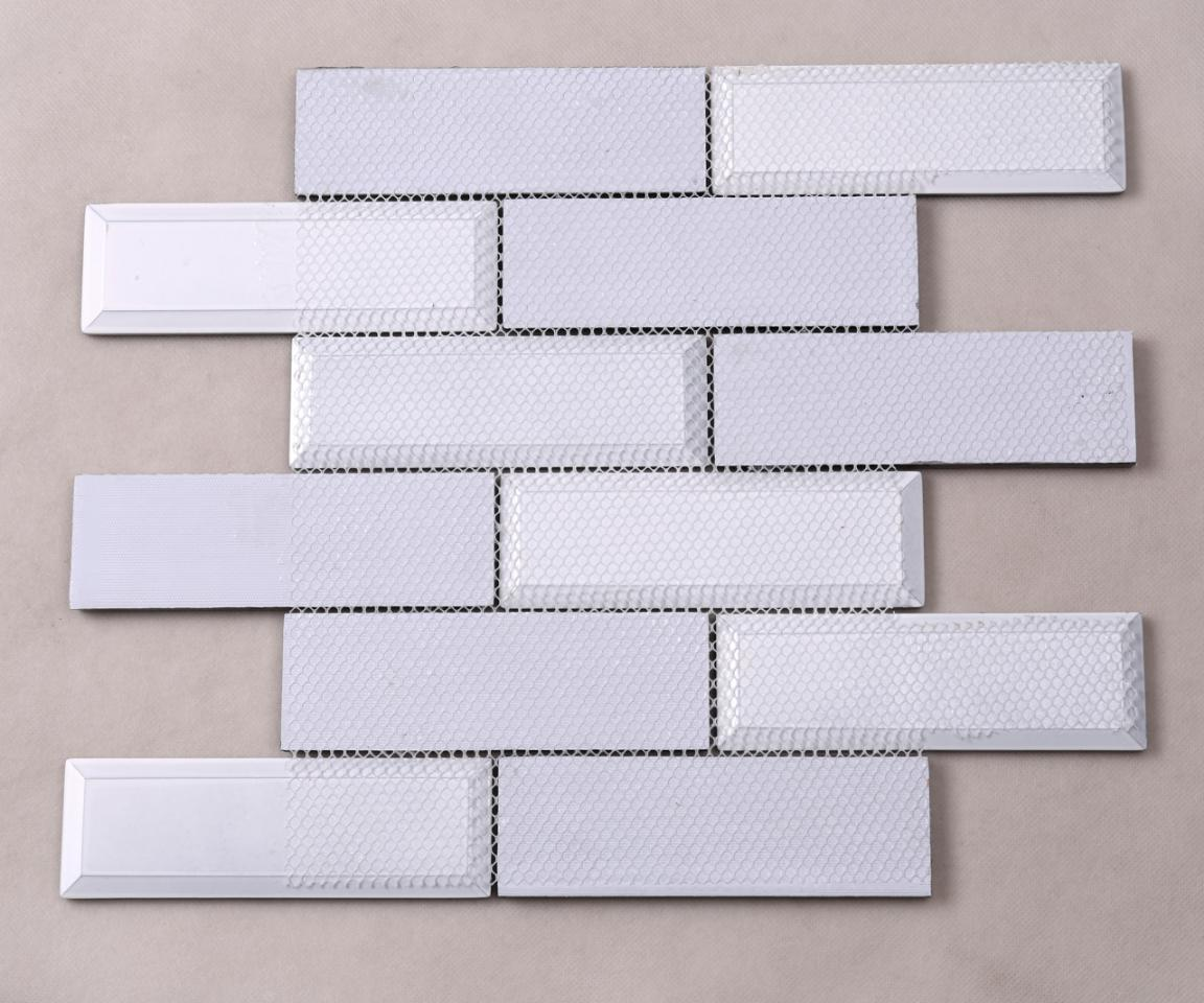 Best Price Strip Pattern Glass Mosaic Beveled Wall Backsplash