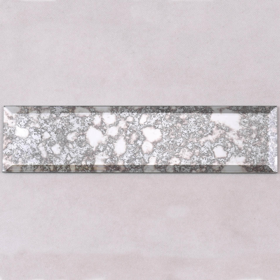 Antique Mirror Grey Beveled Glass Mosaic Tile