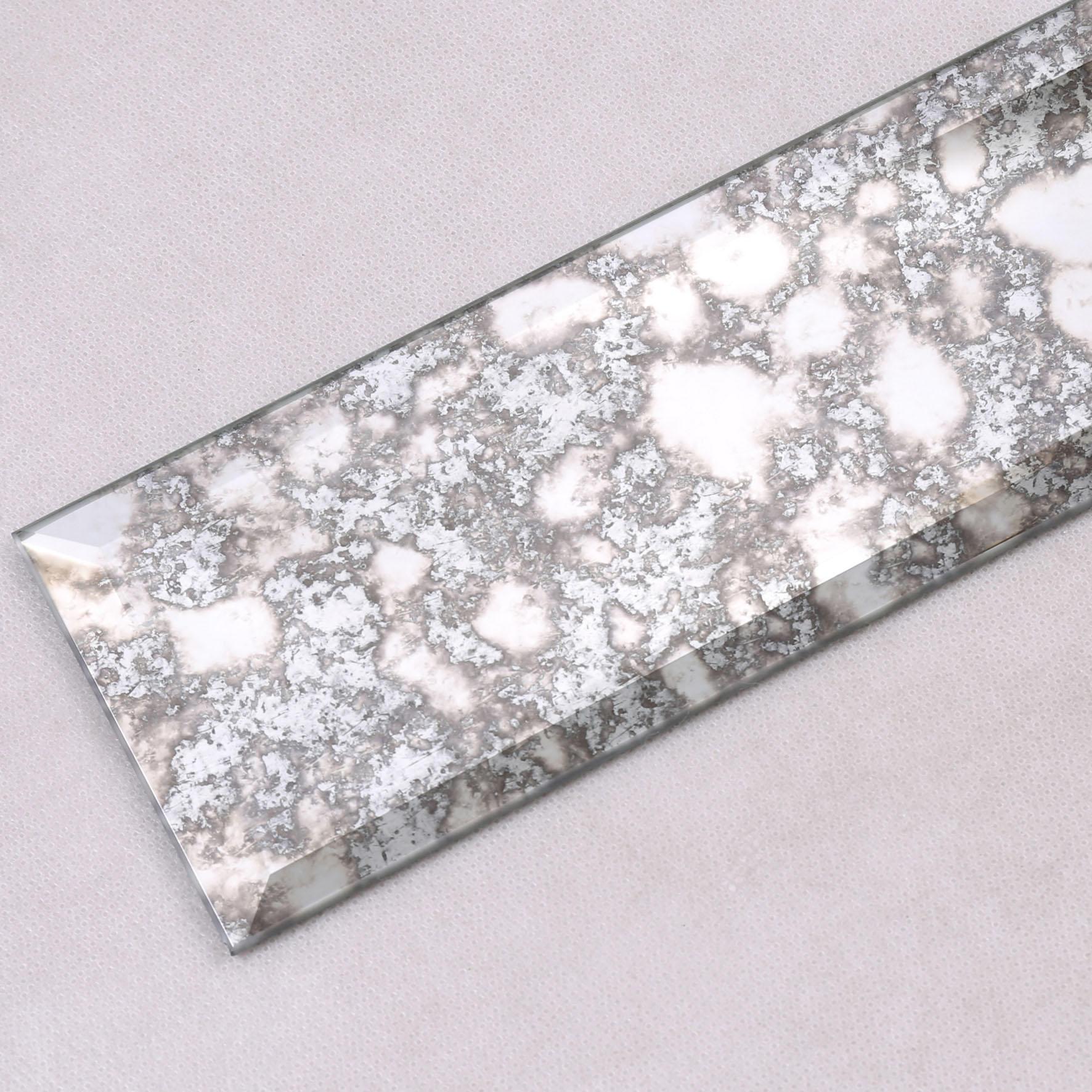 Heng Xing-Antique Mirror Grey Beveled Glass Mosaic Tile-2
