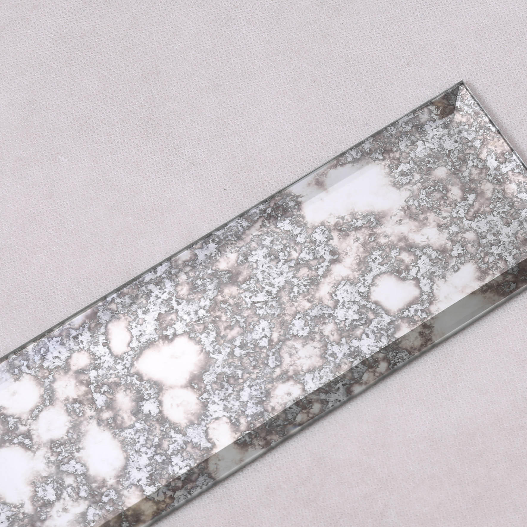Heng Xing-Antique Mirror Grey Beveled Glass Mosaic Tile-1