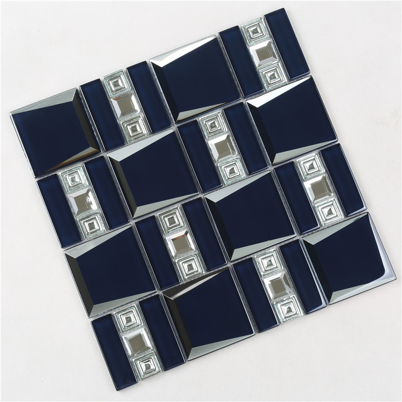 Heng Xing-Oem Glass Mosaic Tile Manufacturer, Hexagon Tile Blue-2