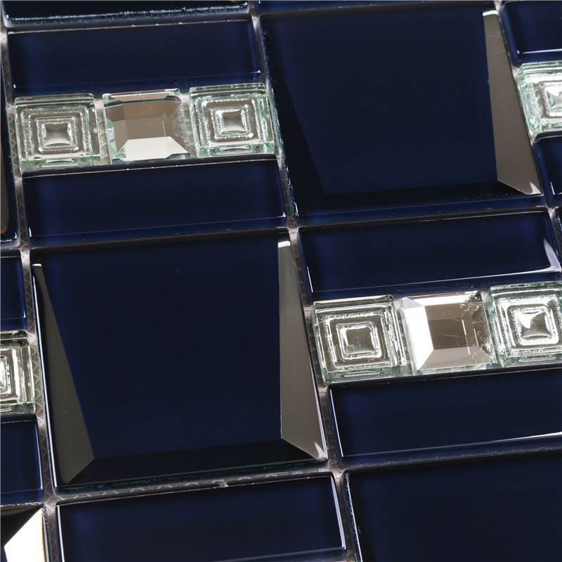 Heng Xing-Oem Glass Mosaic Tile Manufacturer, Hexagon Tile Blue-4