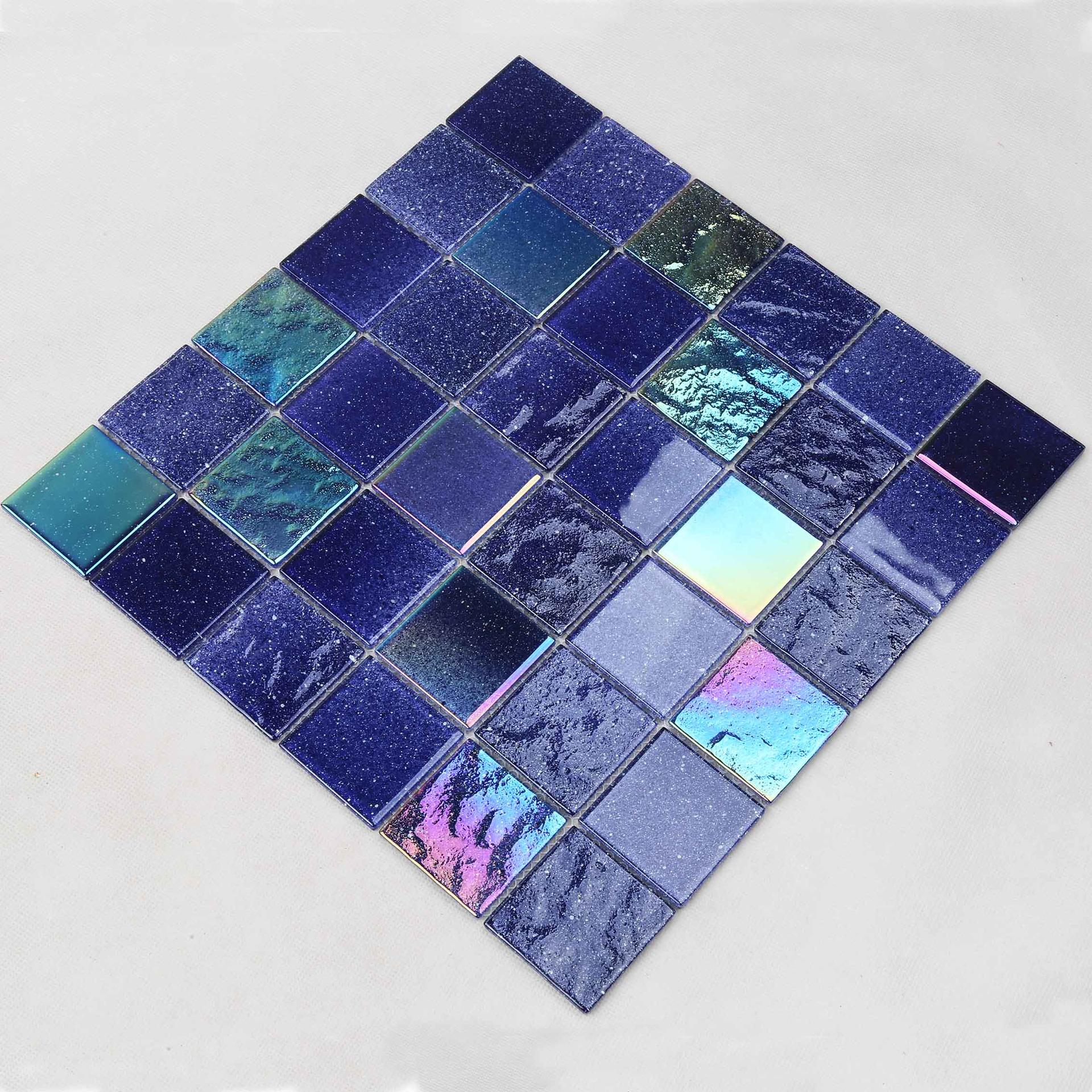 Purple Electroplating Starry Sky Glass Mosaic Tile