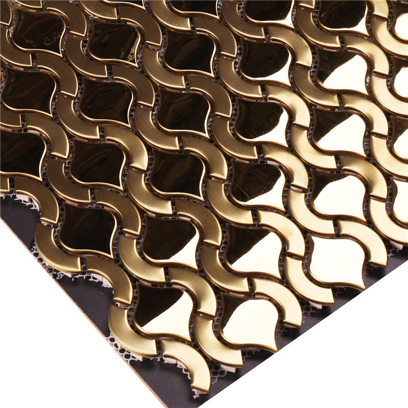 Luxurious Golden Metal Mosaic Tiles SW-18007