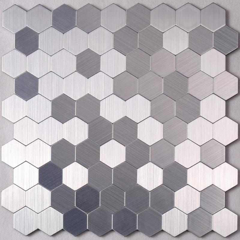 3D Hexagon Metal Mosaic Tile for Backsplash Decoration