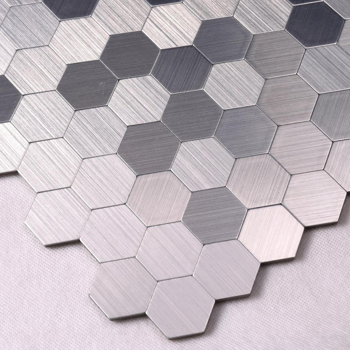 3D Hexagon Metal Mosaic Tile for Backsplash Decoration