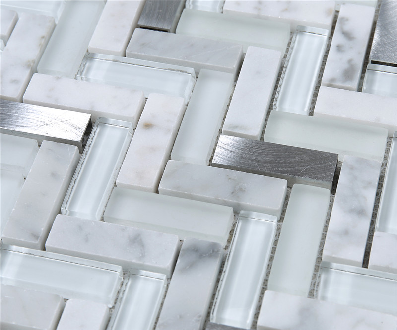 metallic white glass tile personalized for bathroom Heng Xing-4