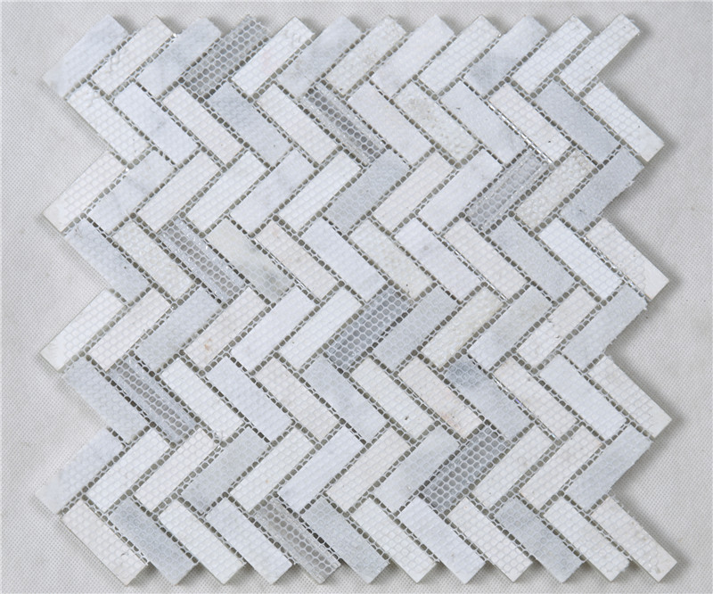 metallic white glass tile personalized for bathroom Heng Xing-5