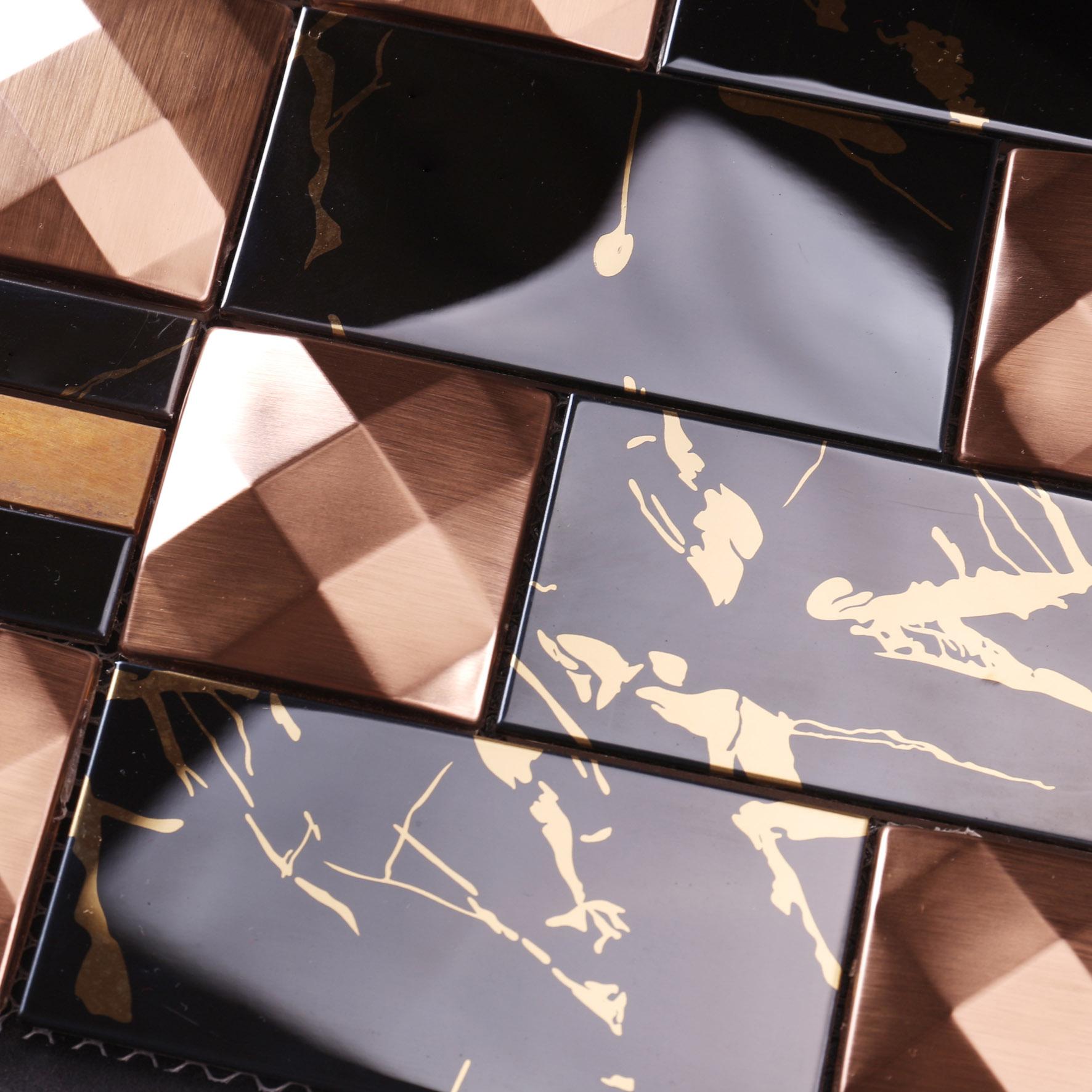 news-Heng Xing-Heng Xing cube metal mosaic tile series for bathroom-img