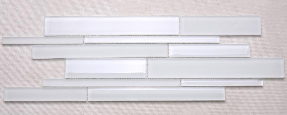 North America Super White Glass Tile Backsplash Crystal Glass Tile