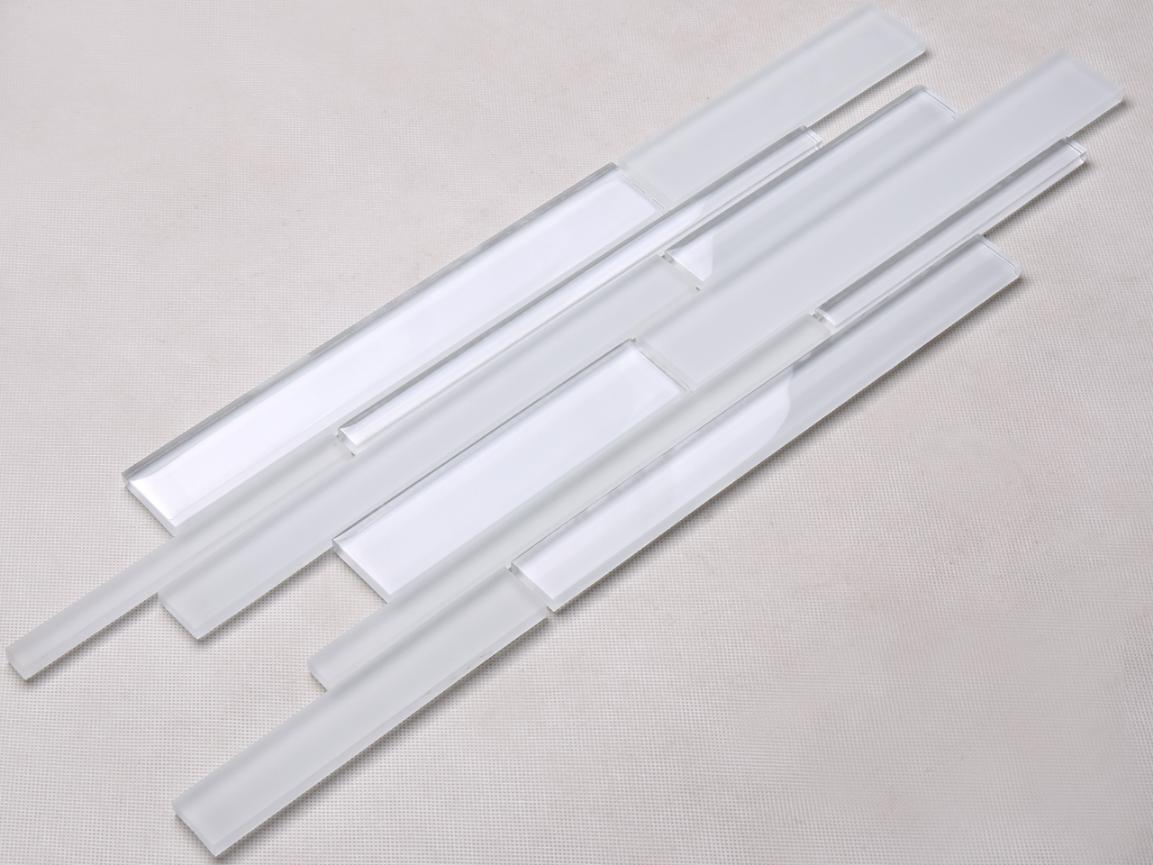North America Super White Glass Tile Backsplash Crystal Glass Tile