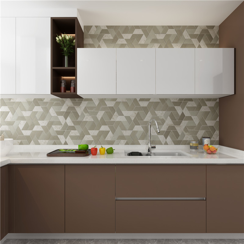 stone carrara herringbone design for bathroom Heng Xing-7