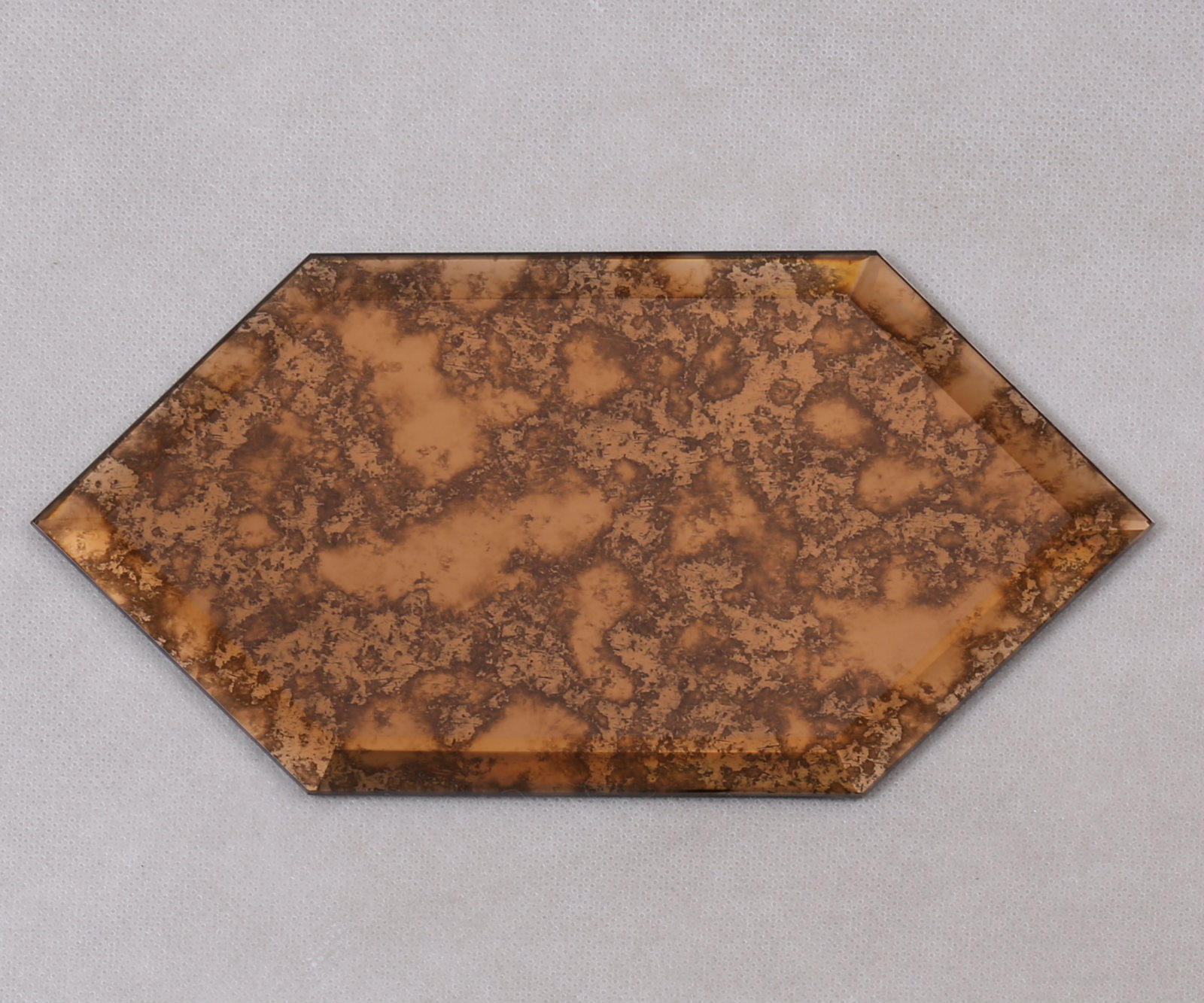 Hexagon Antique Beveled Glass Mosaic Tiles HFG12