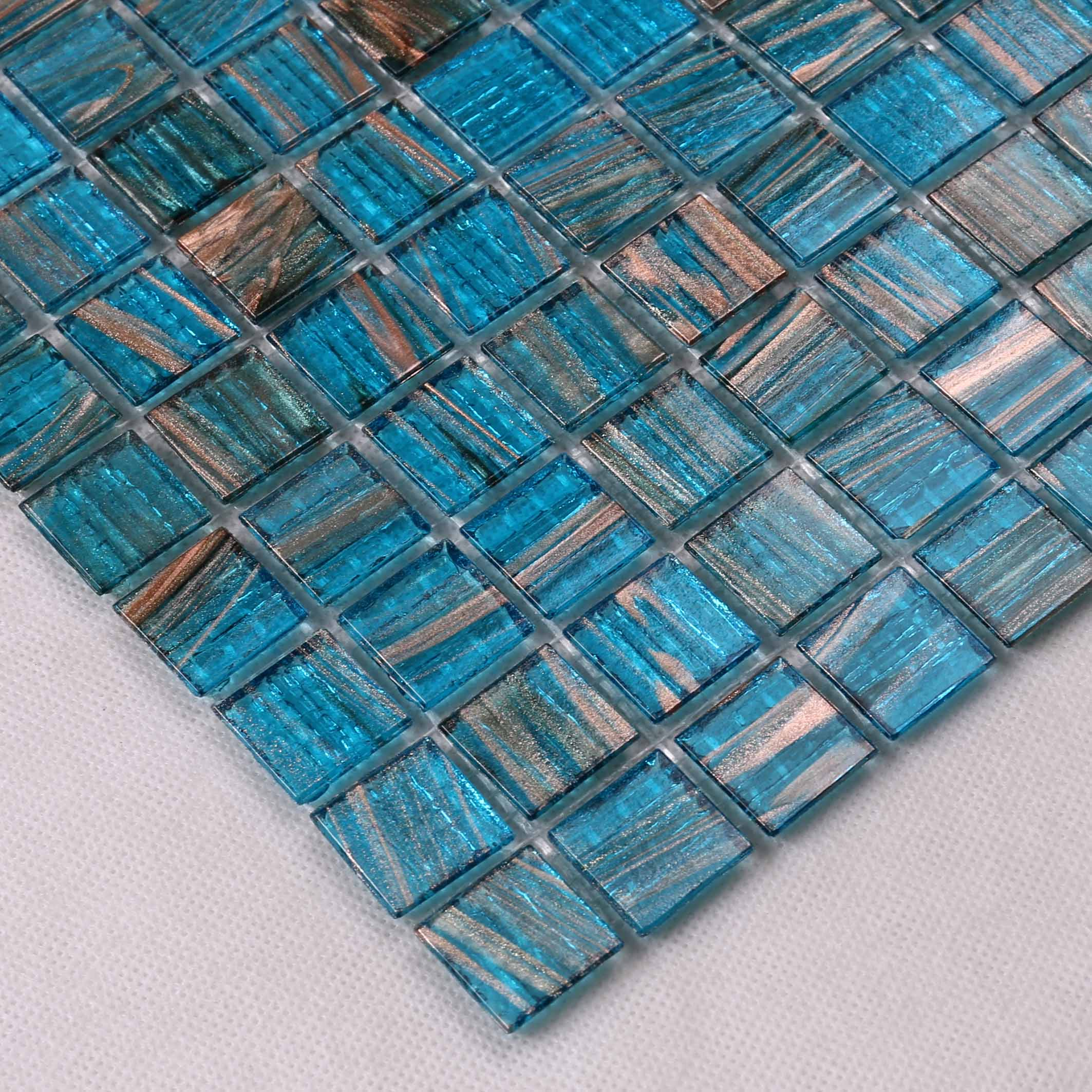 Heng Xing-Custom Pool Tile Manufacturer, Blue Glass Tile Backsplash | Pool Mosaic Tile-3