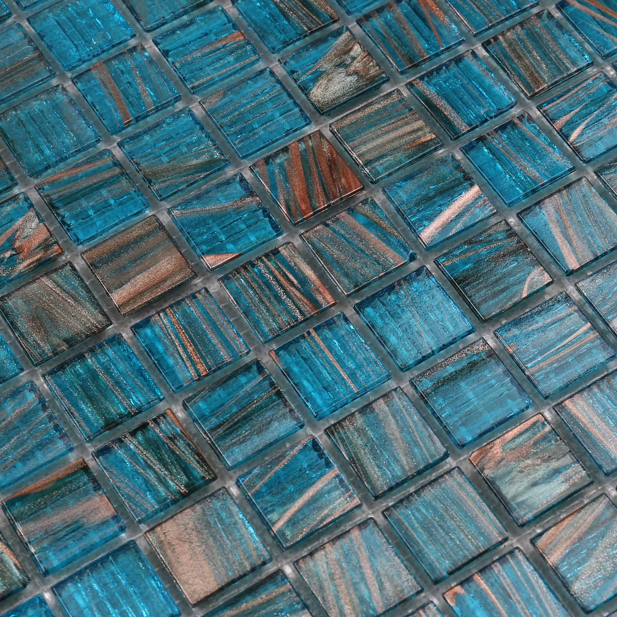 Heng Xing-Custom Pool Tile Manufacturer, Blue Glass Tile Backsplash | Pool Mosaic Tile-4