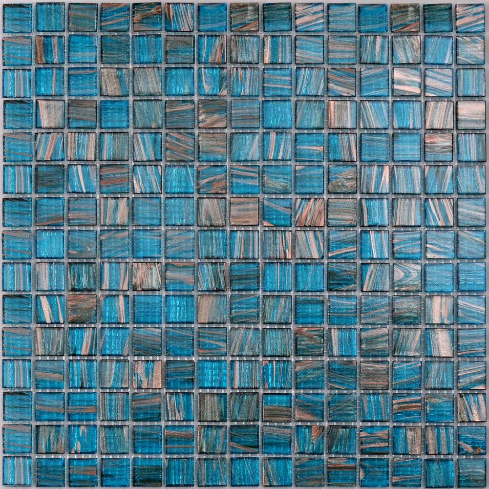 Blue Mix Golden Line Colorful Swimming Pool Mosaic Tile