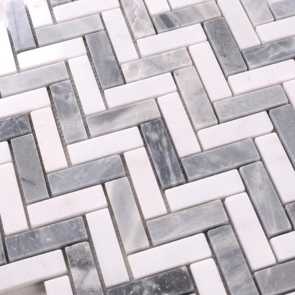 2019 Popular Herringbone Marble Mosaic Tile for Floor HSC148