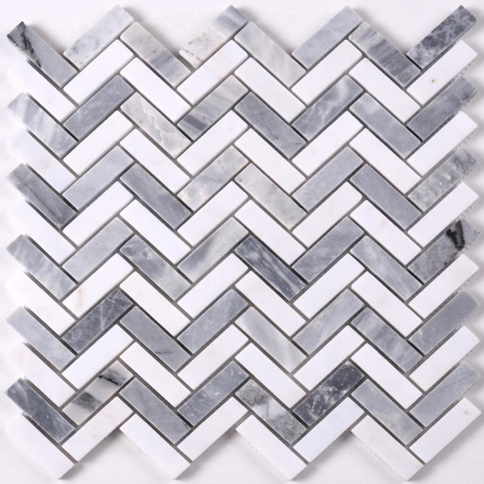 2019 Popular Herringbone Marble Mosaic Tile for Floor HSC148
