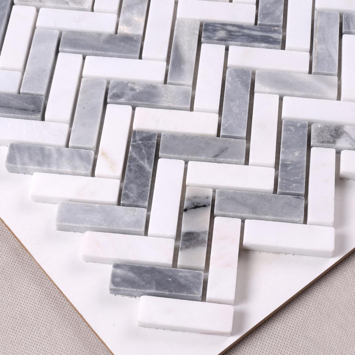 Heng Xing hexagon carrara marble tile mosaic with good price for backsplash-4