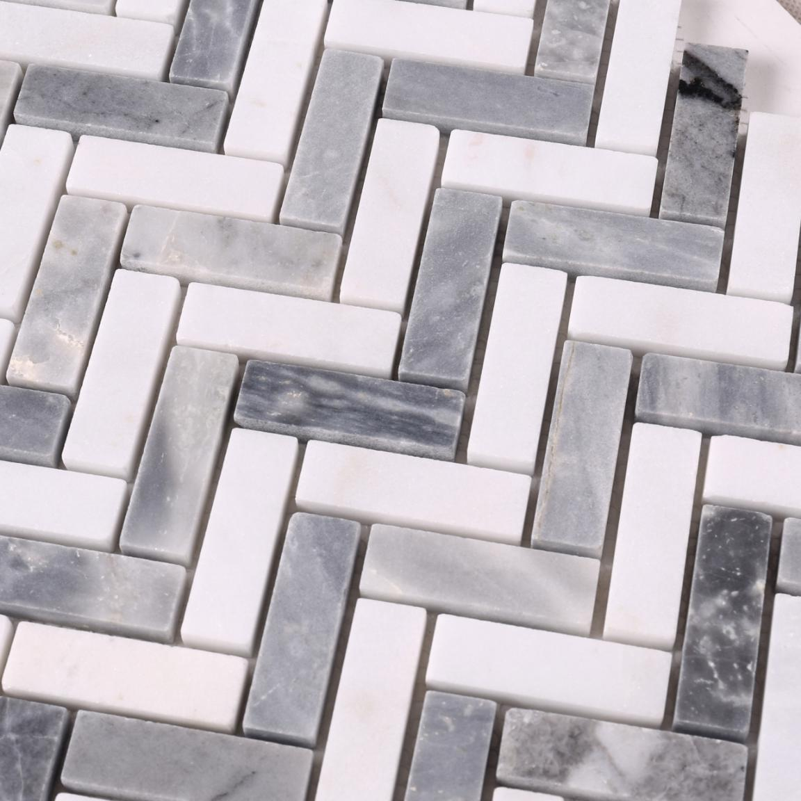Heng Xing hexagon carrara marble tile mosaic with good price for backsplash-5