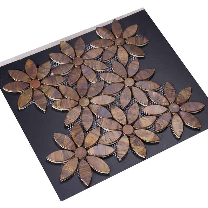 Heng Xing metal all method production of glass mosaic tiles series for kitchen