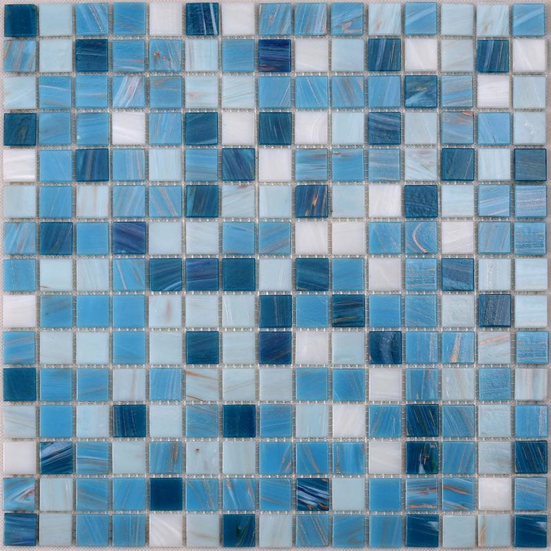 Mixed Golden Line iridescent Glass Swimming Pool Tiles CL09