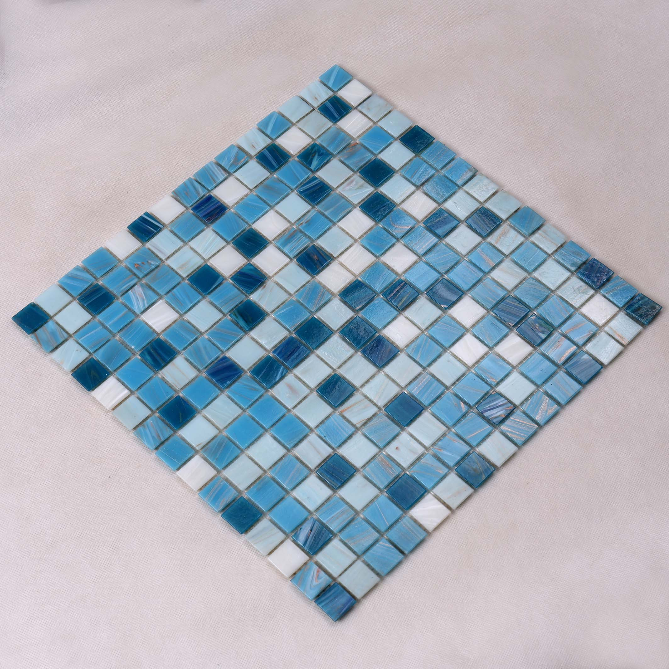 Heng Xing hand white glass tile factory for fountain-3