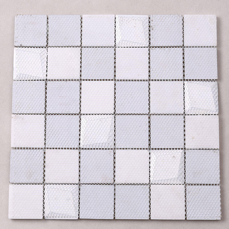 3D Stereo Beveled Chic Crystal Mosaic Tile Coffee Greay Color For Kitchen Backsplash