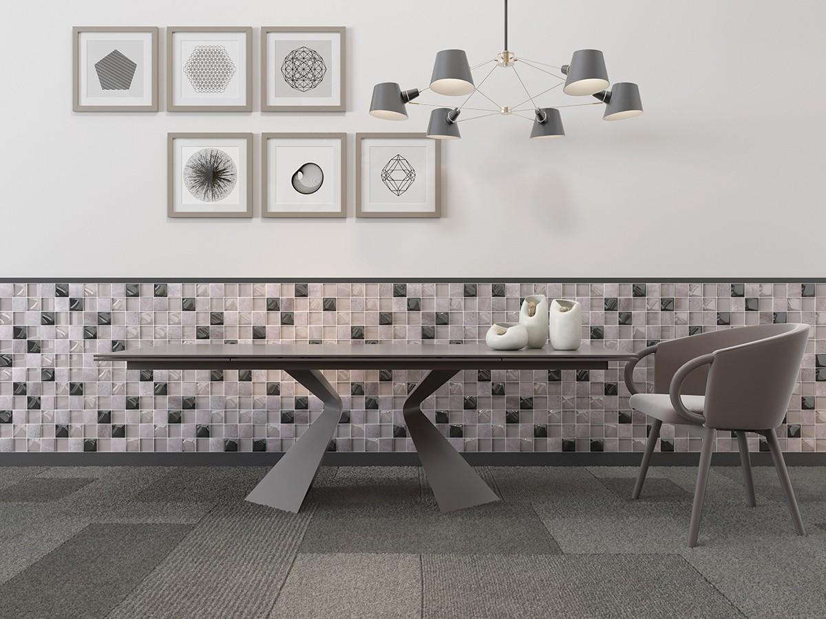 Heng Xing square wavy tile backsplash for business for villa