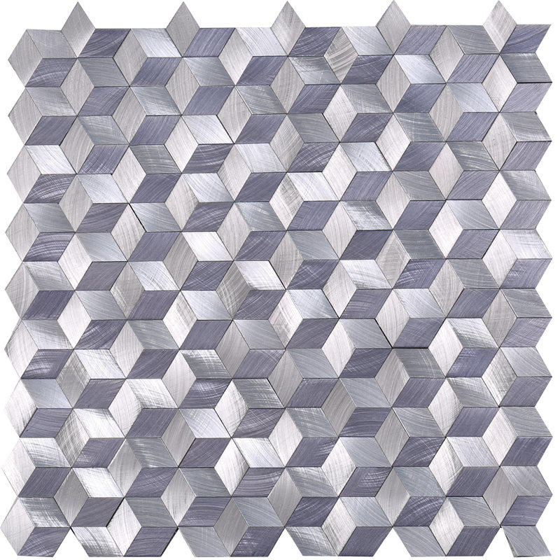 Purple Metallic Backsplash Tiles Alumium Mosaic for Decoration