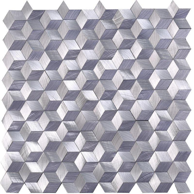 Purple Metallic Backsplash Tiles Alumium Mosaic for Decoration