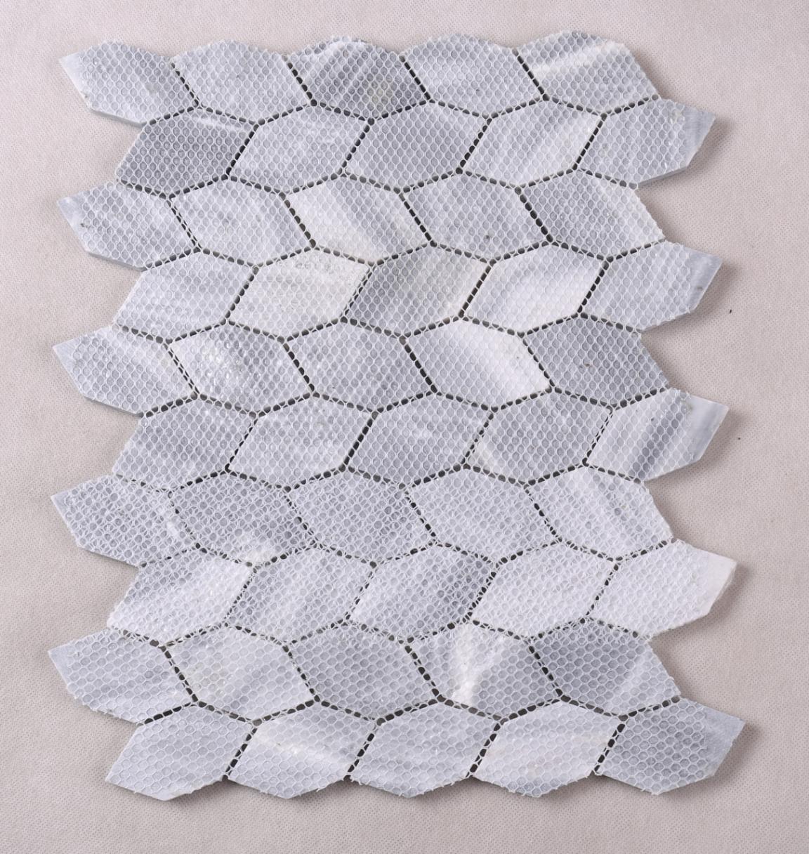 Heng Xing white marble glass mosaic tile design for living room-5