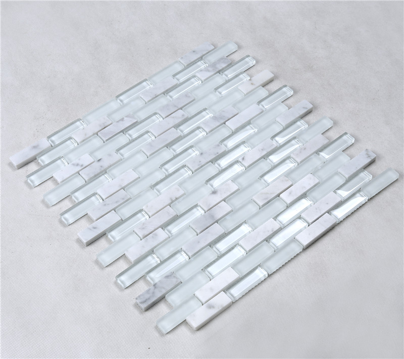 Heng Xing beveling wholesale backsplash glass tile factory price for hotel-1