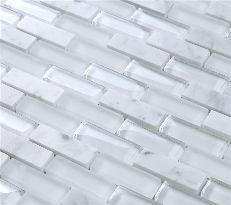 Heng Xing-Metallic Glass Tile Customization, Hexagon Wall Tile-1