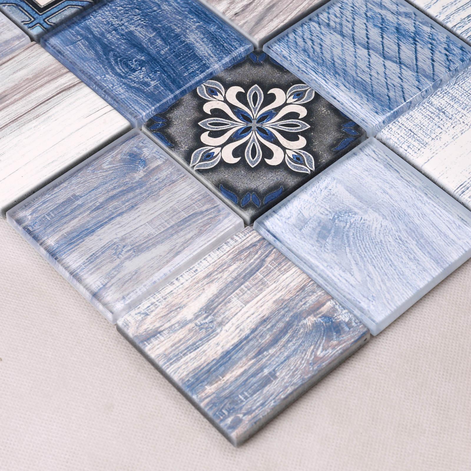 HPM01 Inkjet Printing Art Glass Mosaic Waterproof Anti Corrosion Backsplash