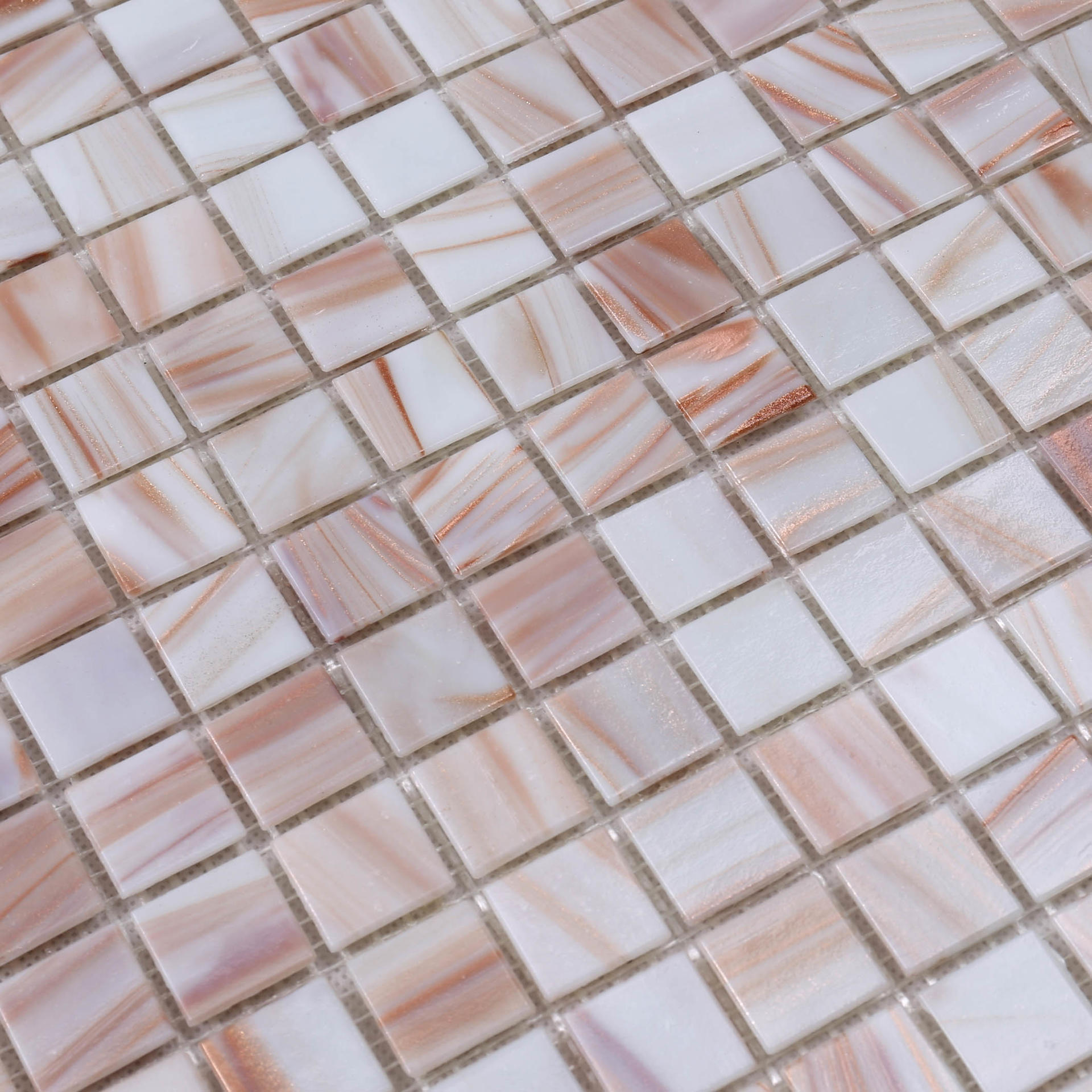 Pink Mix Golden Line Colorful Swimming Pool Border Mosaic Tile E101