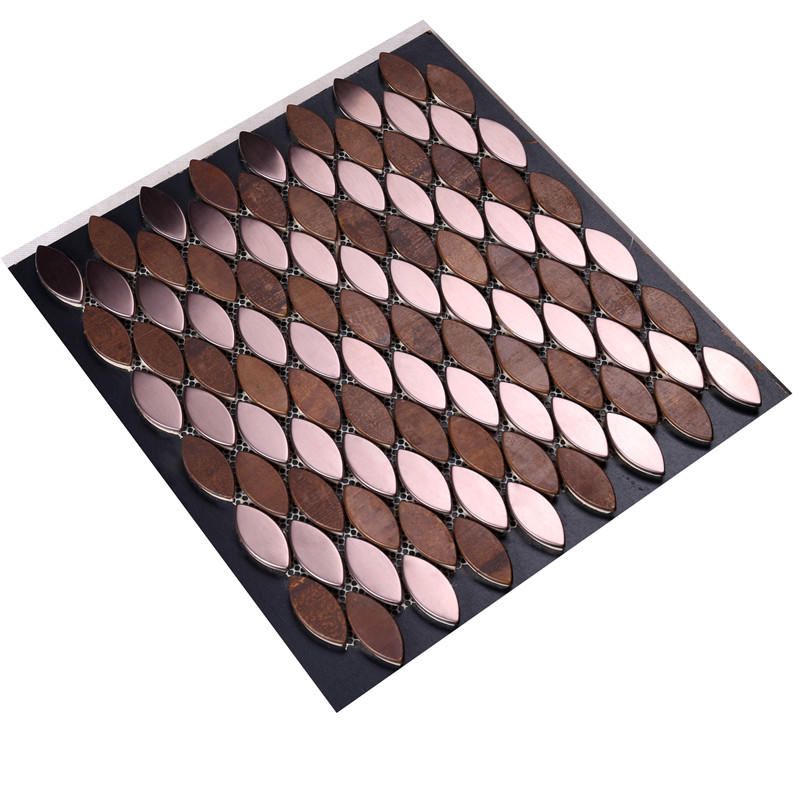 Leaf Shape Cheap Copper Mosaic Tile for Decoration