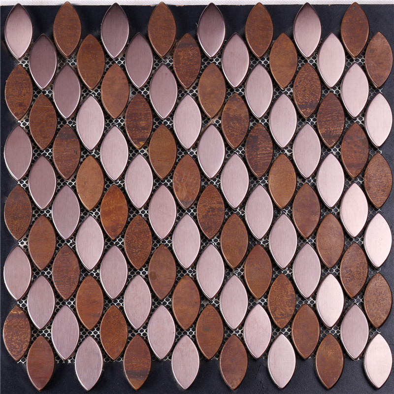product-Leaf Shape Copper Mosaic Tile-Heng Xing-img