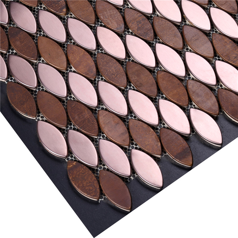 product-Heng Xing-Leaf Shape Copper Mosaic Tile-img