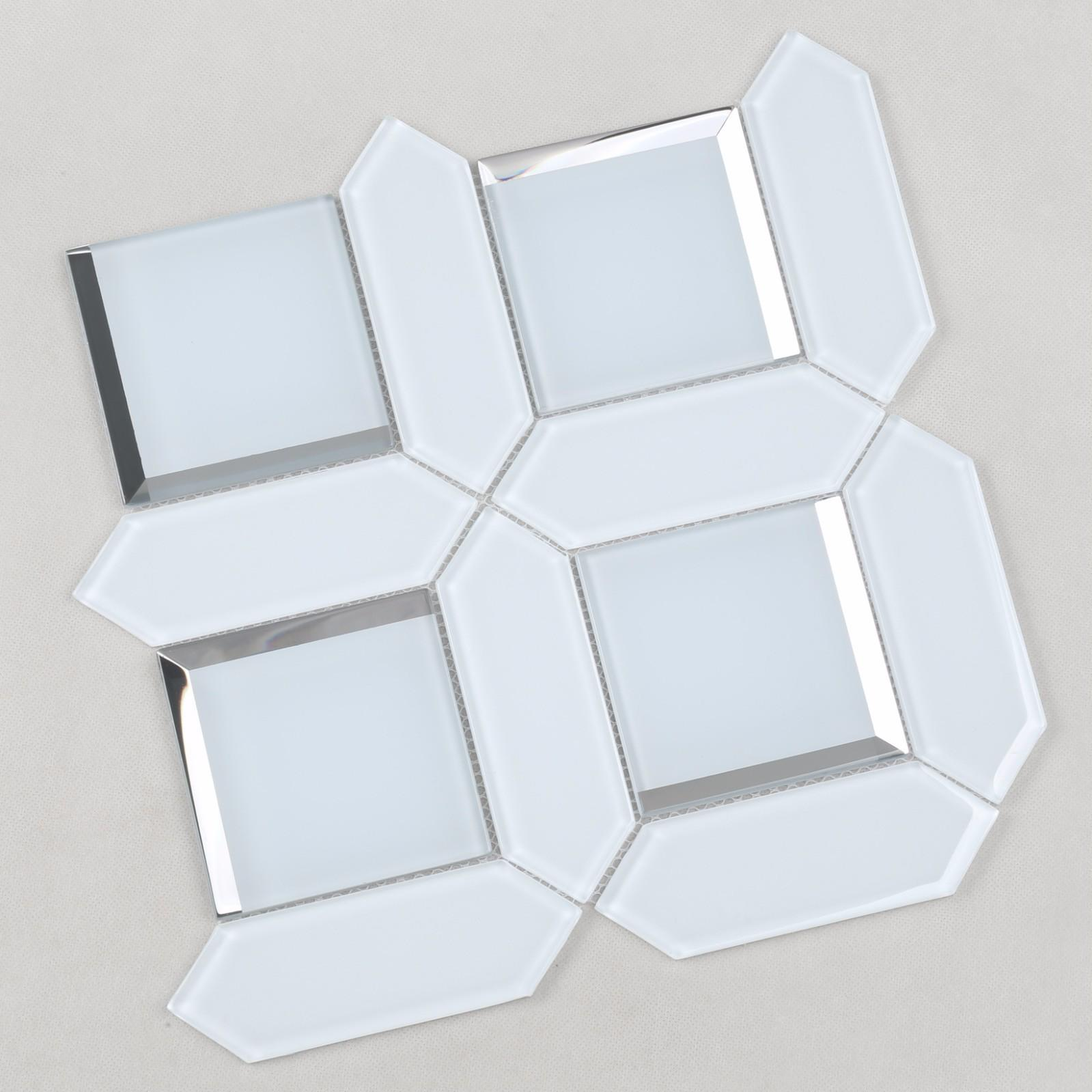 Heng Xing trapezoid glass mosaic tile Supply for kitchen