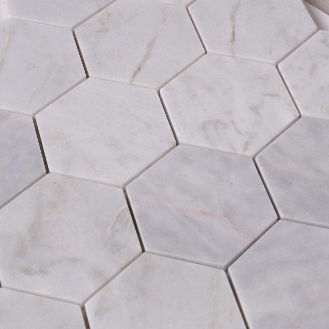 stone carrara herringbone design for bathroom Heng Xing-4