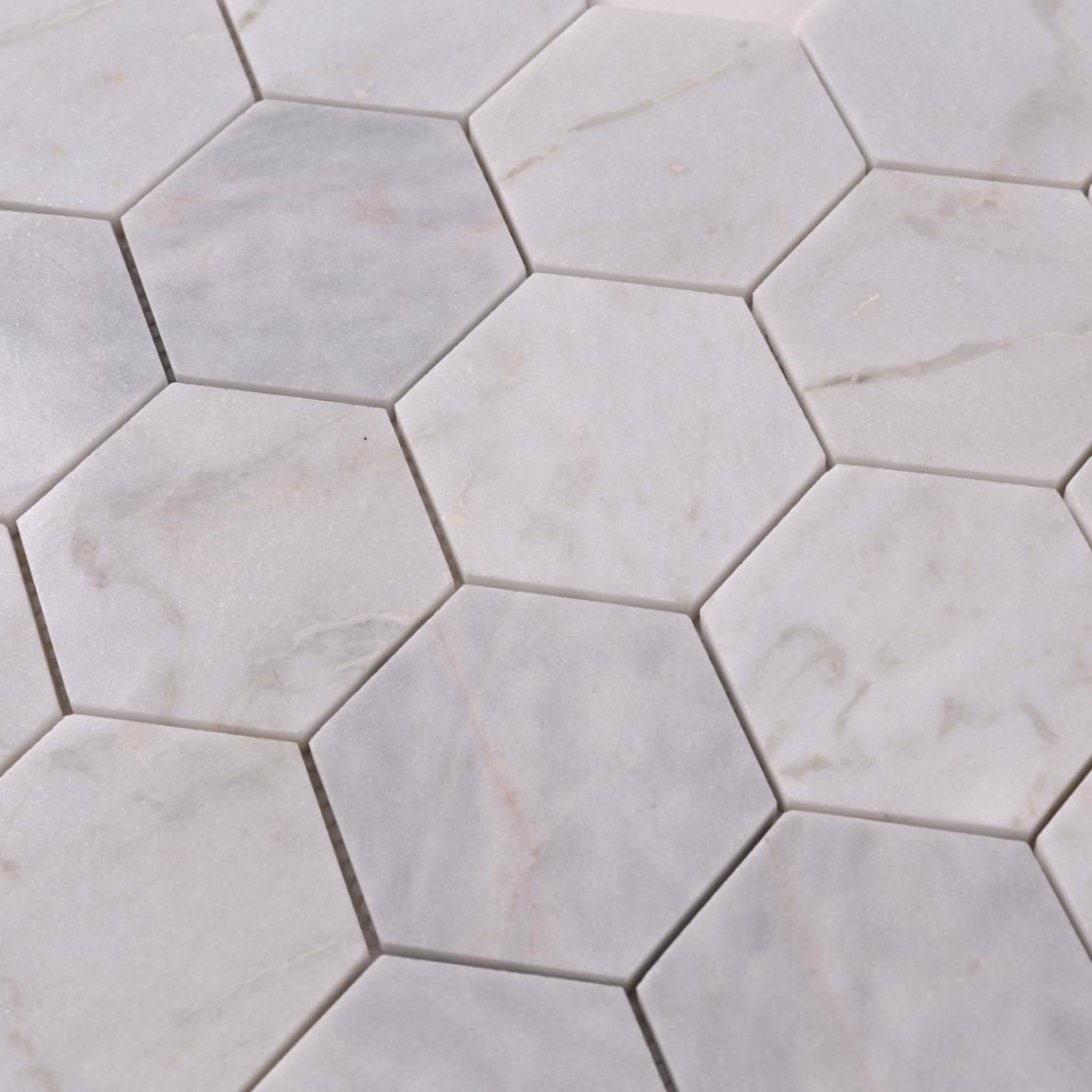 stone carrara herringbone design for bathroom Heng Xing-5