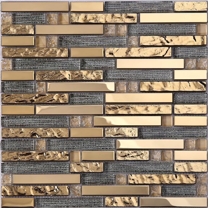 Custom slate glass tile printing factory price for kitchen