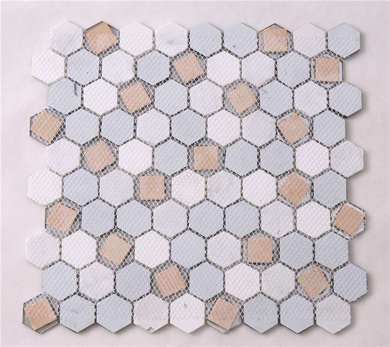 3x3 marble mosaic tans factory price for living room-5