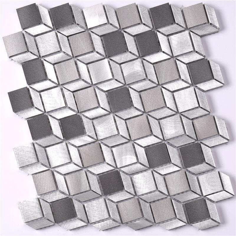 Cube Pattern 3D Mosaic Tile for Fireplace Surround